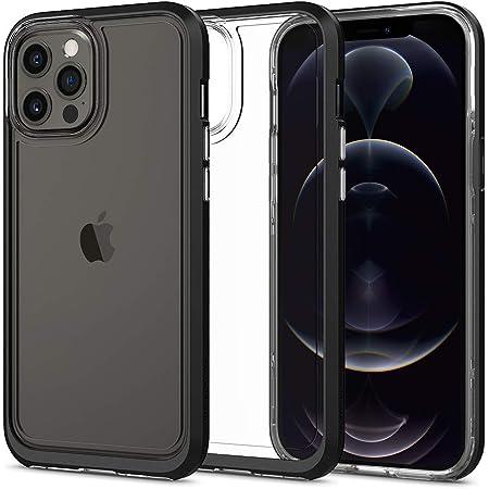 Spigen iPhone 12 Pro Max ケース バンパーケース 背面 クリア TPUソフトケース PCハード 二重構造 米軍MIL規格 衝撃吸収 ワイヤレス充電 ネオ・ハイブリッド クリスタル ACS01622 (ブラック)