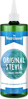 NatriSweet Original Stevia Liquid Drops 8 oz, No Alcohol, Zero Calorie Natural Sugar Substitute, Highly Concentrated Stevia Extract, Naturally Sweet, Unflavored