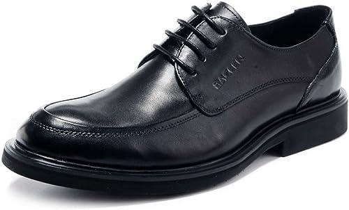 HGDR zapatos De Negocios Formales, Punta De Cuero De Los hombres con Cordones zapatos De Oficina De Vestido De Boda De Derby Oxford En negro, marrón