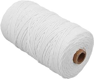 Corde en Coton, Macramé Fil de Coton Corde de Coton DIY Corde de Macramé Naturelle DIY Fil de Coton Cordon Macramé Ficelle...
