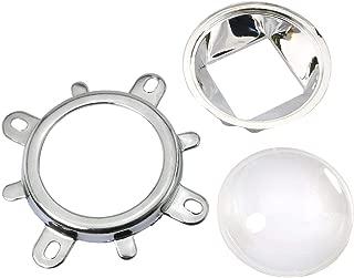 ToToT 1Set 60 Degrees 44mm Lens + 50mm Reflector Collimator Base Housing + Fixed Bracket for 20W-100W LED Light Lamp Lenses LED Reflector Cup Kit