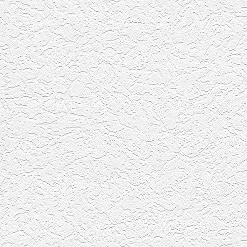 """Manhattan comfort NW48918 Grace Series Vinyl Textured and Paintable Design Large Wallpaper Roll, 21"""" W x 33' L, White"""