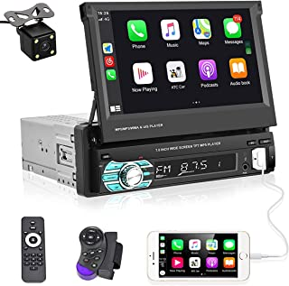 $136 » Sponsored Ad - UNITOPSCI Single Din Car Stereo 7 Inch Flip Out Touch Screen Car Audio Radio with Bluetooth Indash Head Uni...
