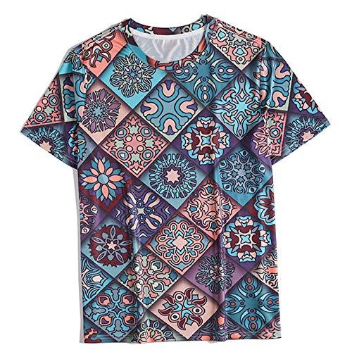 Unisex 3D Impreso Verano Casual Manga Casual T Shirts Camisetas de Verano Ocio Niños Imprimir 3D Hipster Camisa Fresca tee 3D Imprimir T-Shirt Divertido Hombres Mujeres,Xdt1039,XL