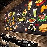 gaolinf Fototapete Schwarze Burger Pommes Tapete 3D