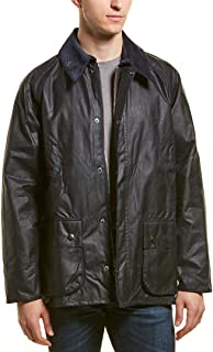 Barbour Bedale Men's Waxed-Cotton Jacket - Navy, 34