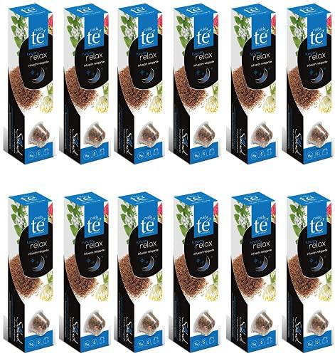 CUIDA TE - Infusion Relax en Cápsulas, 60 Cápsulas Compatibles con Máquinas Nespresso