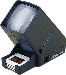 Kaiser ka2005 Diabetrachters diascop 3 (76 x 76 mm, 2,5 V, 0,3 A, E10, 8 cm x 16 cm x 17 cm, dubbele lens), zwart