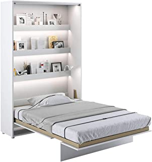 LENART Lit escamotable Bed Concept Vertical 120 x 200 Blanc Satin