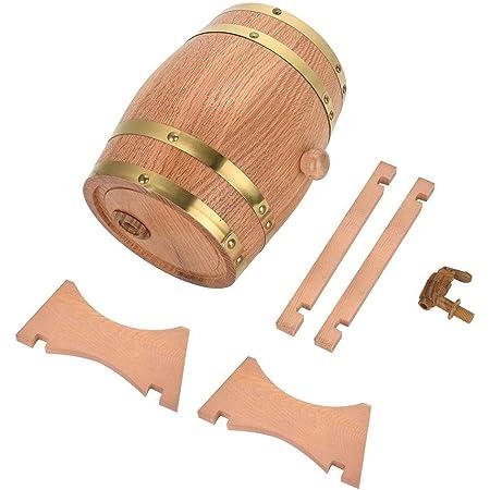 Broco Oak Barrel, Vintage Wood Hogar Oak Timber Aging Wine Whisky Storage Barril con grifo para cerveza Whisky Ron Puerto(3L)