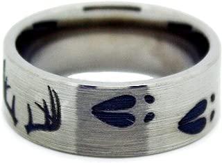 Deer Antler Ring by #1 CAMO - Deer Shed Titanium Wedding Band