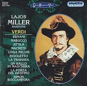 Miller, Lajos: Verdi Arias
