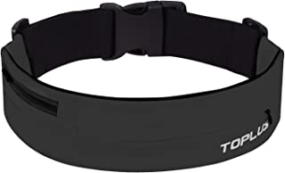 TOPLUS Running Belt, No Bounce Fanny Pack Expandable Sport Pouch for Fitness, Travelling, Jogging, Runner, Men and Women to Hold Phones, Keys and Wallet