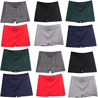 W L INTIMATES Men's Quick Dry Underwear Comfortable Boxer Briefs for Men 12-Pack for Men