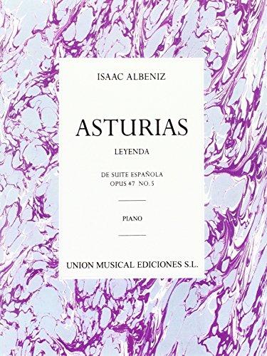 Albeniz Asturias Leyenda No. 5 From Suite Espanola op. 47 -For Piano-: Noten für Klavier