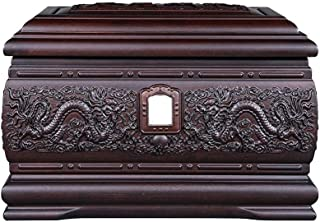 JIADUOBAO-urn Xianglong Xiangfeng Black Rosewood Can Be Inlaid with A Photo Commemorative Box, Moisture-Proof Urn for Adul...