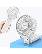 携帯扇風機 JOMARTO USB充電式 折りたたみスタンド機能