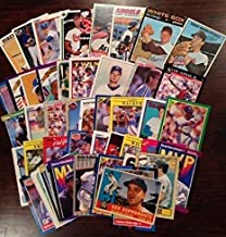 AWESOME CARD LOT - 50 CARDS with 1960s BASEBALL CARDS ~ Each lot Includes TED WILLIAMS ~ MICKEY MANTLE ~ STAN MUSIAL ~ ROBERTO CLEMENTE ~ WILLIE MAYS ~ JOE DIMAGGIO ~ DEREK JETER