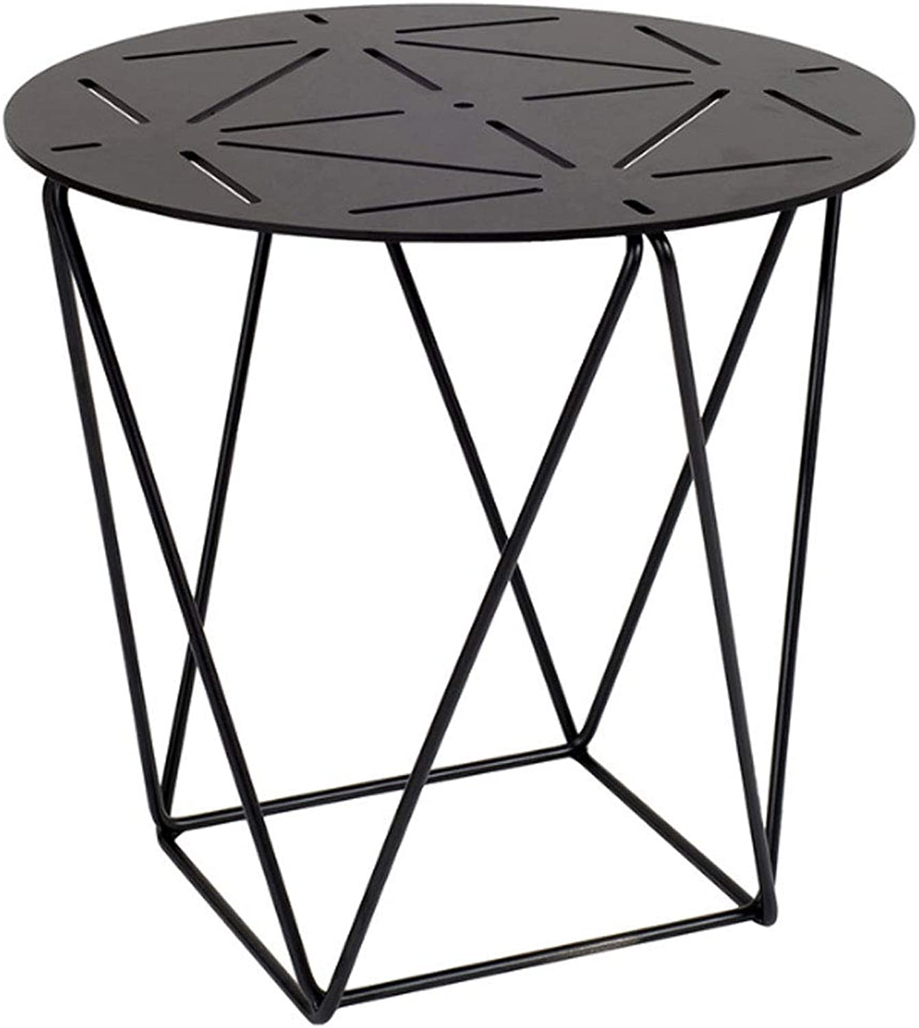 Round Wrought Iron Coffee Table Simple Metal Small Table Living Room Sofa Side Table Small Corner Table