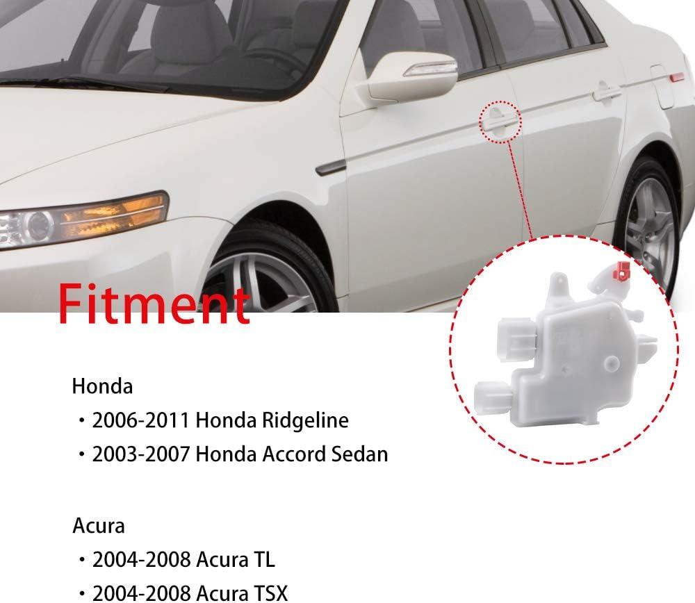 06-14 Ridgeline Fit for 03-07 Honda Accord 04-08 Acura TSX TL OEM# 72155SDAA01 OTUAYAUTO Left Door Lock Actuator for Front and Rear