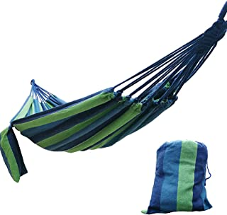 CARAPEAK Extra Large Brazilian Cotton Polyester Double Hammock for Garden, Backyard or Camping - Indoor Outdoor - Comfortable 2 Person Portable Folding Hammock Bed (146
