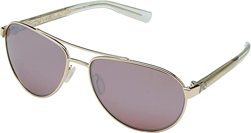 Shiny Gold Frame/Copper Silver Mirror Lens 580P