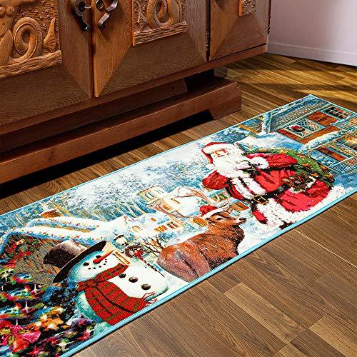 AROGAN Premium Santa Claus Christmas Rug, Cute Snowman Christmas Doormat Holiday Welcome Mat, Christmas Area Rug Carpets for Bedroom Living Room Home Xmas Decor, 2x6 Feet