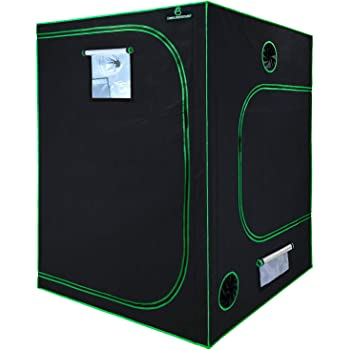 """GA Grow Tent 60""""x60""""x80"""" 5x5 Reflective Mylar Hydroponic Grow Tent with Observation Window and Waterproof Floor Tray for Indoor Plant Growing (60x60x80)"""