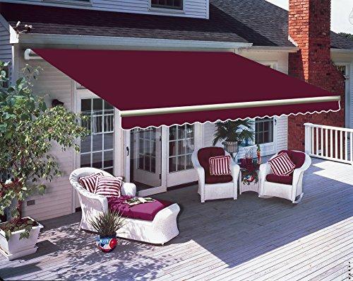 Greenbay 3 m x 2.5m DIY Patio Retractable Manual Awning Garden Sun Shade Canopy...