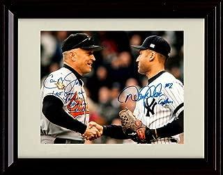 Framed Derek Jeter and Cal Ripken - Last Game at Yankee Stadium - Autograph Replica Print