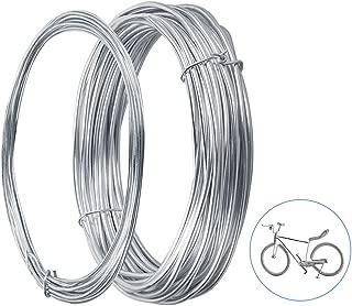 2 Rollos de Alambres de Aluminio para Manualidades, Cable Metálico Alambres con 1,5mm y 3mm para Fabricación de Artesanía en Bricolaje y Bisutería Joyería Herramientas de DIY