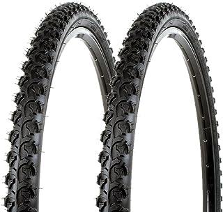 "Sunlite Bicycle K831 Alpha Bite Mountain Tires PAIR 26x1.95"" Black Trail Knobby"