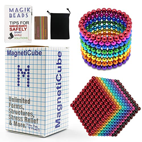 3MM 1000 Pieces Magnetic Balls Sculpture Building Blocks Toys for Intelligence Learning Development Toy, Office Desk Toy & Stress Relief (1000 Pieces - Colorful C)