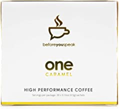 beforeyouspeak CARAMEL ONE High Performance Coffee, Premium Instant Colombian Coffee infused with Turmeric, MCT Oil, Siber...