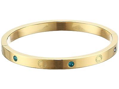Kate Spade New York Infinite Spade Engraved Spade Bangle (Gold Multi) Bracelet