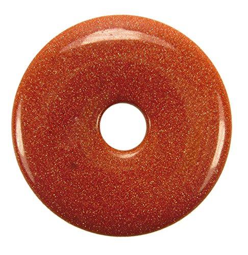 Lebensquelle Plus Goldfluss Edelstein Donut Ø 40 mm Anhänger