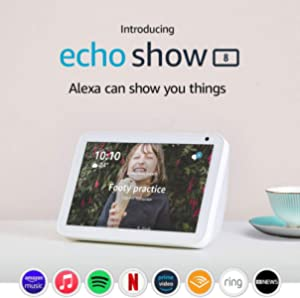 "Echo Show 8 (1st Gen) - HD 8"" smart display with Alexa - Sandstone Fabric"