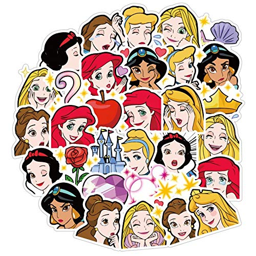 WOCAO Don't Repeat Disney Stickers Toys Disney Princess Minnie Donald Duck Stitch Luggage Guitar Graffiti Cute Cartoon Stickers 40Pcs