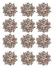 Idea Regalo - TOOKY Pulsante 12pcs all'ingrosso del lotto Oro Argento Cristallo Spille Sciarpe Fibbia Spilla Pin Collare strass Corpetto Bouquet Kit fai da te L'oro