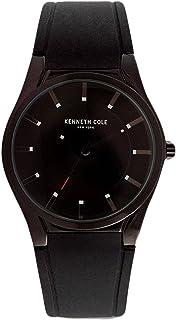 ساعة كينيث كول 10031356 للرجال كلاسيك مينا سوداء بسوار سليكون سوداء
