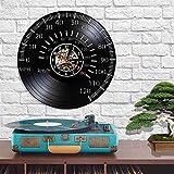 QIANGTOU Velocímetro Reloj de Pared Vintage Cafe Racer Tac�