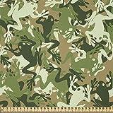 ABAKUHAUS Frosch Stoff als Meterware, Schädel Camouflage