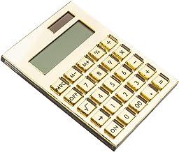 E&O Acrylic Calculator,Solar Power,12 Digits LCD Display,Modern Elegant Desk Accessory,Office Home Electronics,Business Pr... photo