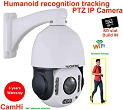 CamHi 5MP Wireless 20X Zoom Humanoid Auot Track IR PTZ Speed IP Camera Humanoid Recognition Build in MIC Speaker sd Card(Without SD Card)