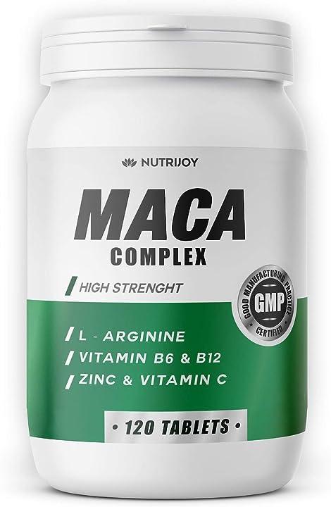 Maca + l-arginina | [ formula aggiornata ] 120 compresse [ 7000mg ]  nutrijoy B07W4QNK4H