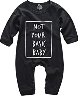 Fairy Baby Toddlers Baby Boys Girls Letter Romper Outfit Cotton Long Sleeve Footed Pajamas