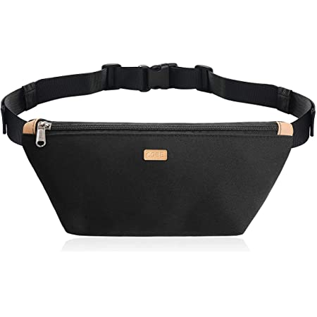 CGBE Waist Bag for Women Men, Running Fanny Pack Belt Bag with Adjustable Strap for Casual Hiking Cycling Dog Walking Fishing