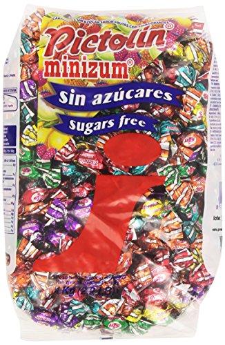 Pictolin - Minizum - Caramelos sin azúcar sabor frutas con edulcorantes - 1 kg