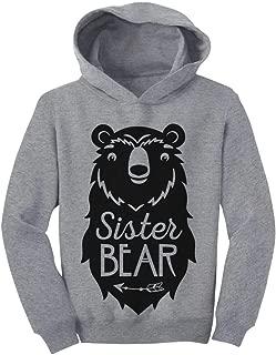 Tstars Big Sister Bear Cute Gift Sibling Girl Family Toddler Hoodie