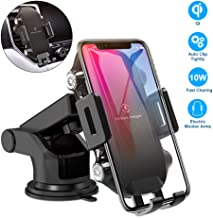 Easy One Touch Car Phone Mount 4 Dash Air Vent,Car Phone Holder Wireless Charger,10W Fast Charging Phone Holder for iPhone, Samsung,Moto,Google,Nokia,LG Smartphone, Black Color